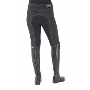 Euro Melange Full Seat Breech; These classically styled EuroKnit Melange blend tradition and comfort perfectly with a full seat and convenient pockets. Made of a mid-weight cotton/polyester/spandex blend these breeches are incredibly soft and comfortable.