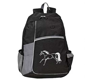 Cool Running Horse Metro Backpack decorated with a running horse design, 600 Denier polyester with PVC backing. Find the best prices, loyalty rewards and free shipping on most orders over $100 at The Distance Depot.