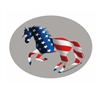 Oval Patriotic American Flag Horse Sticker for Sale!