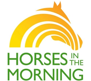 Horses In The Morning Sticker Show your support for the only live morning show with an equine theme. A daily look at the horse world and the people behind it.