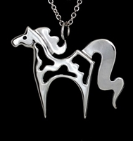 JJeni Cloud Paint Horse Design Necklace For Sale!