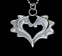 Love Heart Horses Necklace