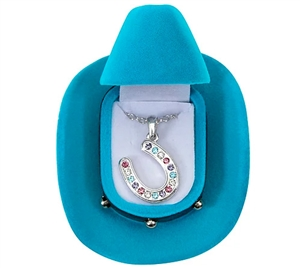 Multicolored Horseshoe Necklace for Sale