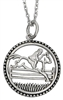 "Jumping Horse Necklace Sterling silver necklace with jumping horse pendant. 16"" chain with 2"" extension and lobster claw closure."