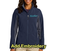 SanMar Ladies Jacket Navy/Grey For Sale!