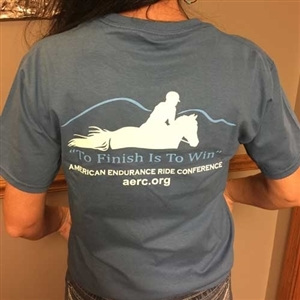 "AERC ""To Finish is to Win"" T-Shirt for Sale!"