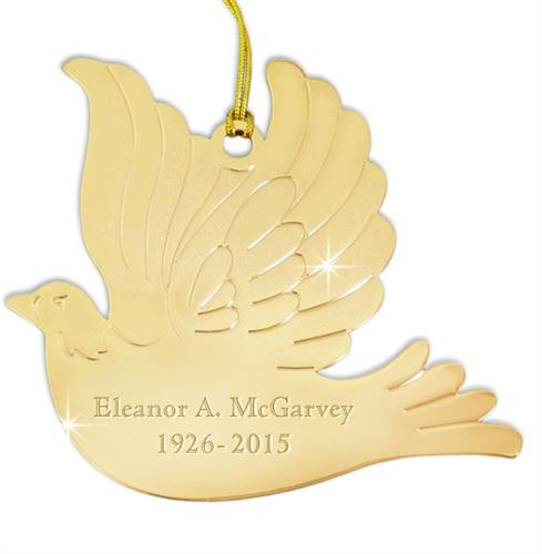 Dove Ornament | Personalized Engraved Dove Ornament | Memorial ...