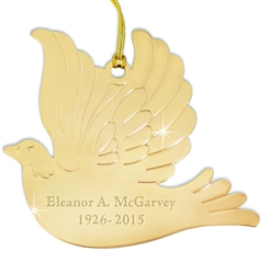 Engraved Dove Ornament