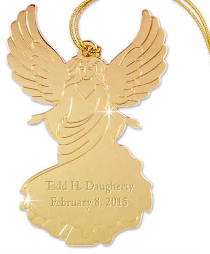 angel ornament personalized engraved angel ornament memorial