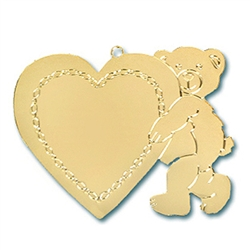 Teddy Bear with Heart Ornament