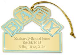 Blue Baby Blocks Ornament