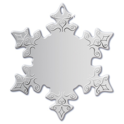 Silver Snowflake Ornament | Engraved Snowflake Ornament