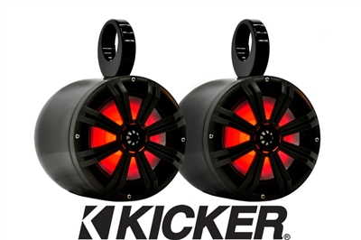"Big Air 8"" LED Kicker Bullet Speakers"