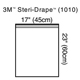 "3M STERI-DRAPE Towel Drape, Large, 23"" x 17"" with Adhesive Strip & Clear Plastic. MFID: 1010"