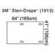"3M STERI-DRAPE X-Ray Image Intensifier Drape, 4 Adhesive Patches, 41"" x 64"", 10/box, 4 box/case. MFID: 1013"
