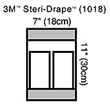 "3M STERI-DRAPE Instrument Pouch Holds Standard Size Instruments, 7"" x 11"", 2 Compartments. MFID: 1018"