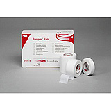 "3M TRANSPORE White Dressing Tape, 3"" x 10 yds, 4/box, 10 box/case. MFID: 1534-3"