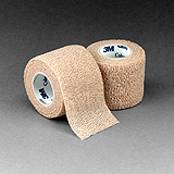"3M COBAN Self-Adherent Wrap, 1"" x 5 yds, Tan, 5/pack, 6 pack/case. MFID: 1581"