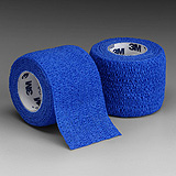 "3M COBAN Self-Adherent Wrap, 4"" x 5 yds, Blue, 18/case. MFID: 1584B"