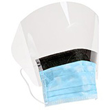 3M Procedure Mask with Face Shield, Fog-Free, Blue. MFID: 1820FS