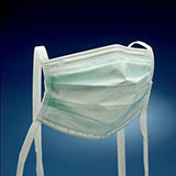 3M High Fluid Resistant Surgical Mask, Light Green, 50/box, 6 box/case. MFID: 1835