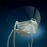 3M Filtron High Performance Surgical Face Mask, Tie-On with Face Shield. MFID: 1838FSG