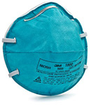 3M N95 Regular Particulate Respirator Mask Cone Molded, 20/box, 6 box/case. MFID: 1860