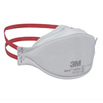 3M N95 Health Care Particulate Respirator Mask, Flat Fold, 20/box, 6 box/case. MFID: 1870+