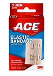"3M ACE 4"" Elastic Bandage with Clip, 72/case. MFID: 207313"