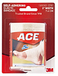 "3M ACE 2"" Athletic Bandage, Self-Adhesive, 72/case. MFID: 207460"