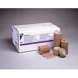 "3M COBAN Self-Adherent Wrap, 1"" x 5 yds, Latex Free (LF), Tan, Non-Sterile, 5/pack, 6 pack/case. MFID: 2081"