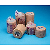 "3M COBAN Self-Adherent Wrap with Hand Tear, Latex Free (LF), 1½"" x 5 yds (stretched), Tan. MFID: 20815"