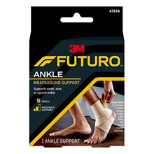 3M FUTURO WRAP Ankle Support, Large, 3/pk, 4pk/cs. MFID: 47876EN
