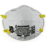 3M OCCUPATIONAL N95 Particulate Respirator, Staple Free Attachment, 160/case. MFID: 8210