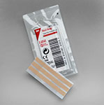 "3M STERI-STRIP Elastic Skin Closure, 1"" x 5"", 4 strips/env, 25 env/box, 4 box/case. MFID: E4548"