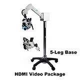 Colpo-Master I Suspension-Arm LED Colposcope, HDMI Video Package with HD Camera, 5 Leg Base. MFID: CS-105T-HD