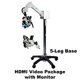 Colpo-Master I Suspension-Arm LED Colposcope, HDMI Video Package with HD Camera, & HD 1080p Monitor, 5 Leg Base. MFID: CS-105T-HDM