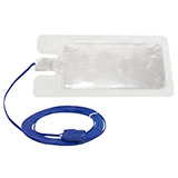 Aaron Bovie Disposable Solid Adult Return Electrode (Grounding Pad) with 2.8M cable, 50/box. MFID: ESRSC