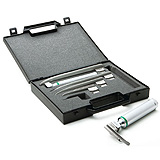 ADC Fiber Optic Laryngoscope Miller Set with 5 blades, 2 handles, and Case. MFID: 4089F