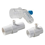 BCI Airway Adapter, Straight with filter, 10/packg for BCI 8400 & 8401. MFID: 1105