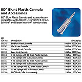 BD Blunt Plastic Cannula for: baxter Interlink, Abbott LifeShield, B.Braum SafeLine. MFID: 303345