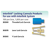 BD Threaded Lock Cannula For Use w/ Interlink System, 100/box, 10 box/case. MFID: 303369