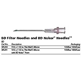 "BD 18 G x 1½"" Filter needle and BD Nokor point with 5 micron thin wall, 100/box, 10 box/case. MFID: 305201"