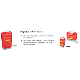 BD Sharps Collector, 1.4 Qt, Small, Red, 36/case. MFID: 305557