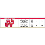 BD Sharps Collector, 17 Gal, Hinged Top, Red, 5/case. MFID: 305610