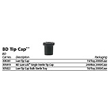 BD Sterile Tip Cap, Single, Polypropylene, 200/box, 10 box/case. MFID: 305819