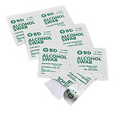 BD Alcohol Swabs, 100/pack, 12 pack/case. MFID: 326895