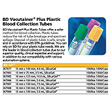 BD VACUTAINER Plus Plastic Serum Tube, 13x100mm, 5.0mL, Gold, 100/box, 10 box/case. MFID: 367989