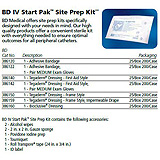 BD IV Start Pak with medium gloves, adhesive bandage & accessories. MFID: 386122