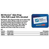 BD Persist Skin Prep, Swabsticks (1), 10% PVI-I & 70% Alcohol, 50/box, 10 box/case. MFID: 386401